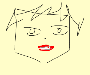 concerned and confused anime face biting lip drawing by martin