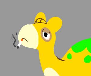 Joe Numel (The G3 Pokenon smoking a cigarette)
