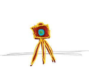 An oldschool camera