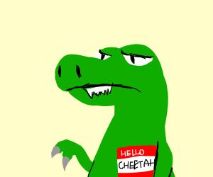 dinosaur named cheetah