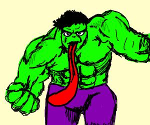 Hulk with a long tounge