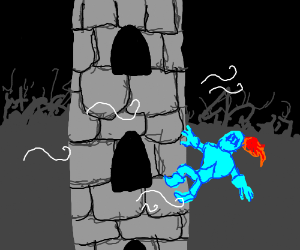 glass knight storming a castle