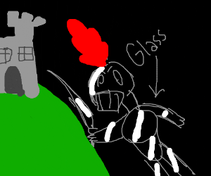 knight in giass (giant+glass/ass?) armor