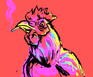 smoking chiken