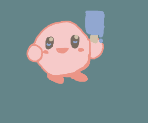 Kirby Eating A Popsiclr