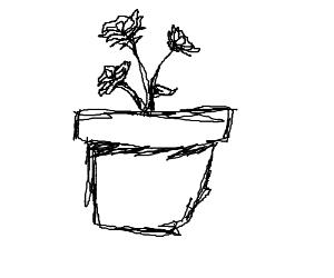 White flower pot with black flowers inside drawception white flower pot with black flowers inside mightylinksfo
