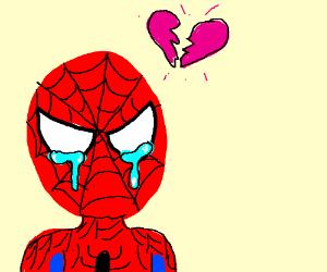 Heartbroken spiderman