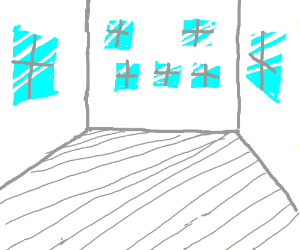 a room with 7 windows