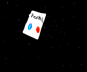Portal(the game) box in space