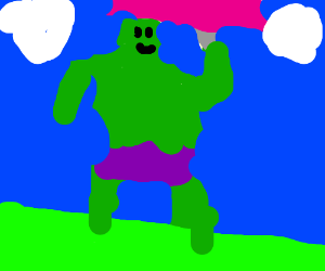 hulk with a unibrow