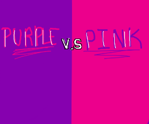 Purple Vs Pink Colour Match