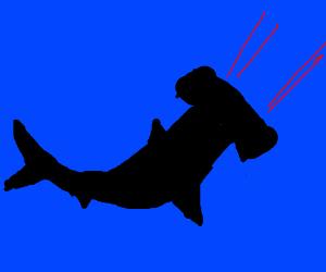 laser shooting shark