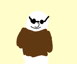 Bipedal Sheep with Shades and Leather Jacket