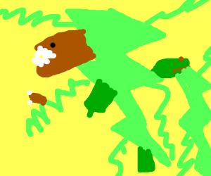Green lightning dinosaur thing?