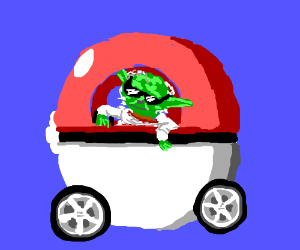 Pokeball is Yoda's other car