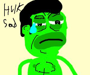 Hulk sad
