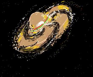 Literal Sombrero Galaxy Drawception
