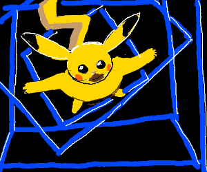 Pikachu controls space and time