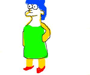 Marge Simpson krumping with a Praying Mantis - Drawception