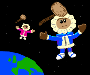 The Ice Climbers, in space!