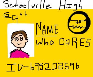 Cringy ID Card