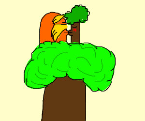 lorax and tree kissing in a tree k-i-s-s-i-n-g