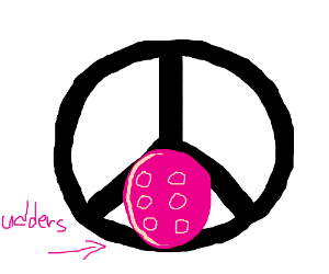 peace color with udder