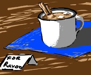 Draw choco milk for Ravon.
