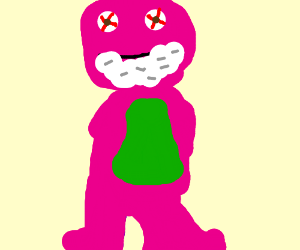 Barney The Dinosaur Gone Rabid Drawing By Neo Moore Drawception