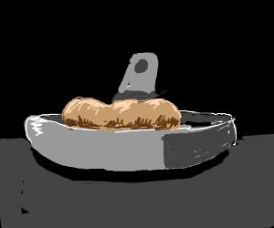 Frying a raw potato