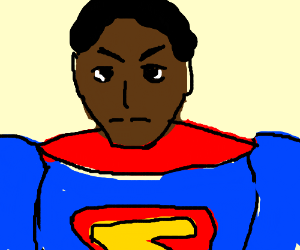 In a mirror world Superman is black
