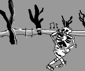 Skelton dancing