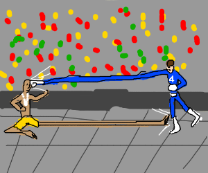 Dhalsim and Mr.Fantastic FIGHT!