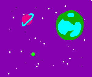 Planets in a purple universe
