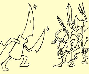 KnifeMan VS Rats