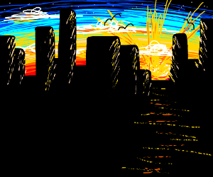 Dramatic skyline sunrise