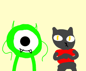 night in the woods with mike wazowski