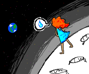 A Sad Pluto Drawception