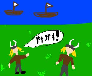 How do Vikings communicate? NORSE CODE!