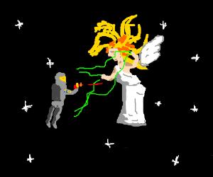 Space captain vs goddess
