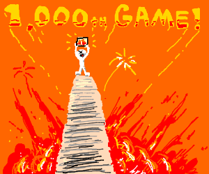 This is my 1000th game. Let's get top :)
