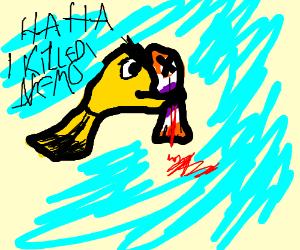 A goldfish murdering Nemo