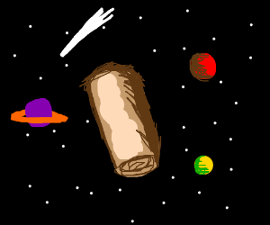 Spring roll In outer space. Also Planets.
