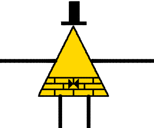 Bill cipher (gravity falls) without his eye
