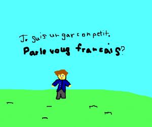 un petit garcon parle francais