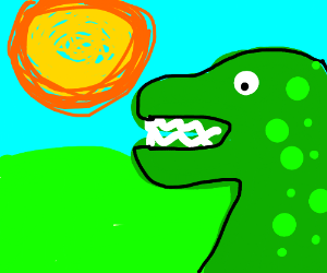 Dinosaurs in day