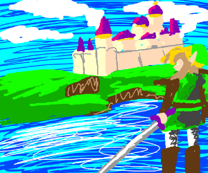 Link approaches Hyrule Castle