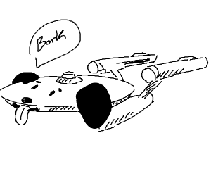 Enterprise Spaceship is a doggo.