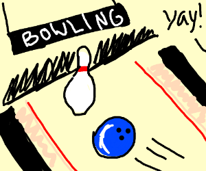 Knocking over the last pin (bowling)