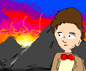 doctor who guy stares at the sunset
